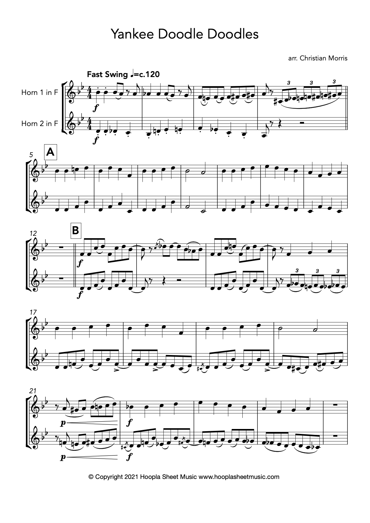 Yankee Doodle Doodles (French Horn Duet)