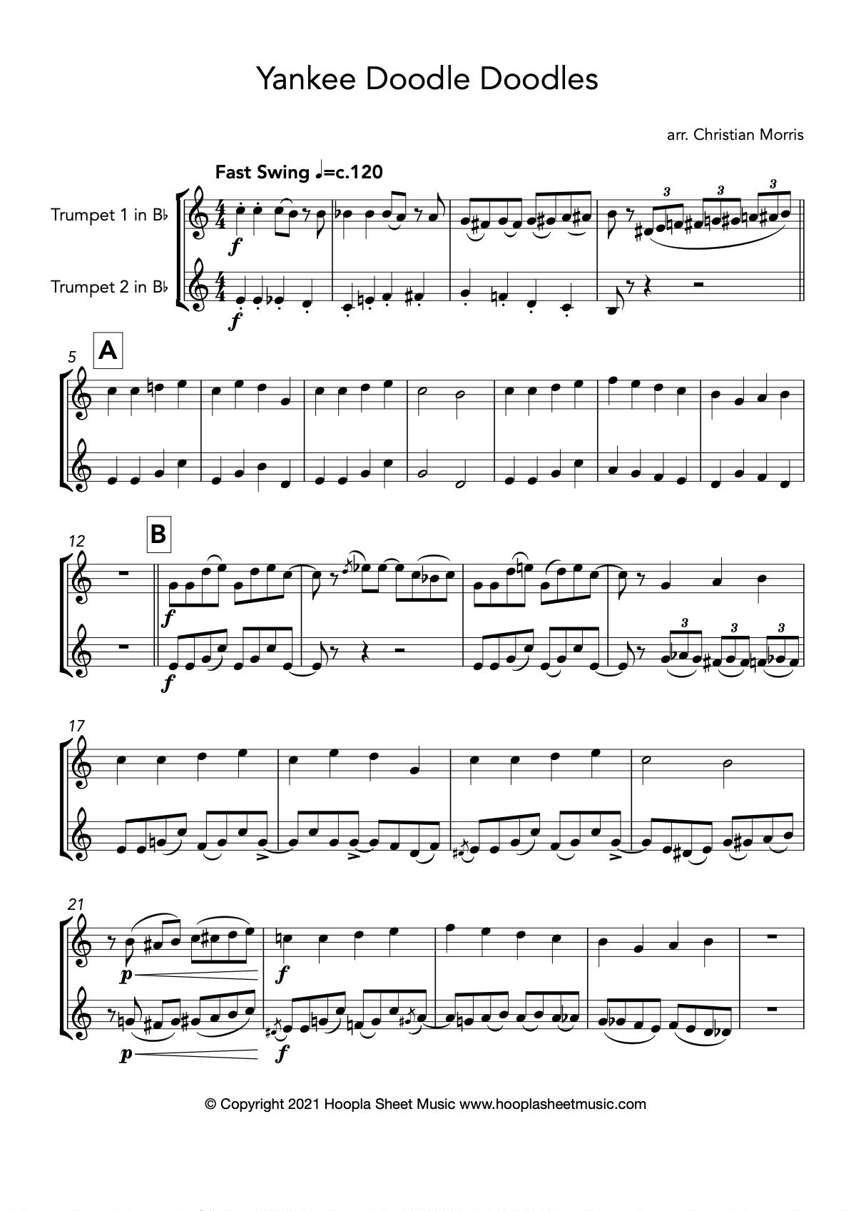 Yankee Doodle Doodles (Trumpet Duet)