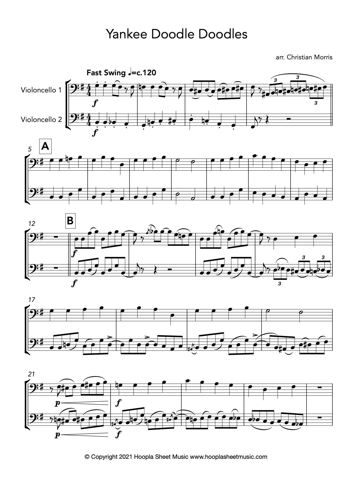 Yankee Doodle Doodles (Cello Duet)