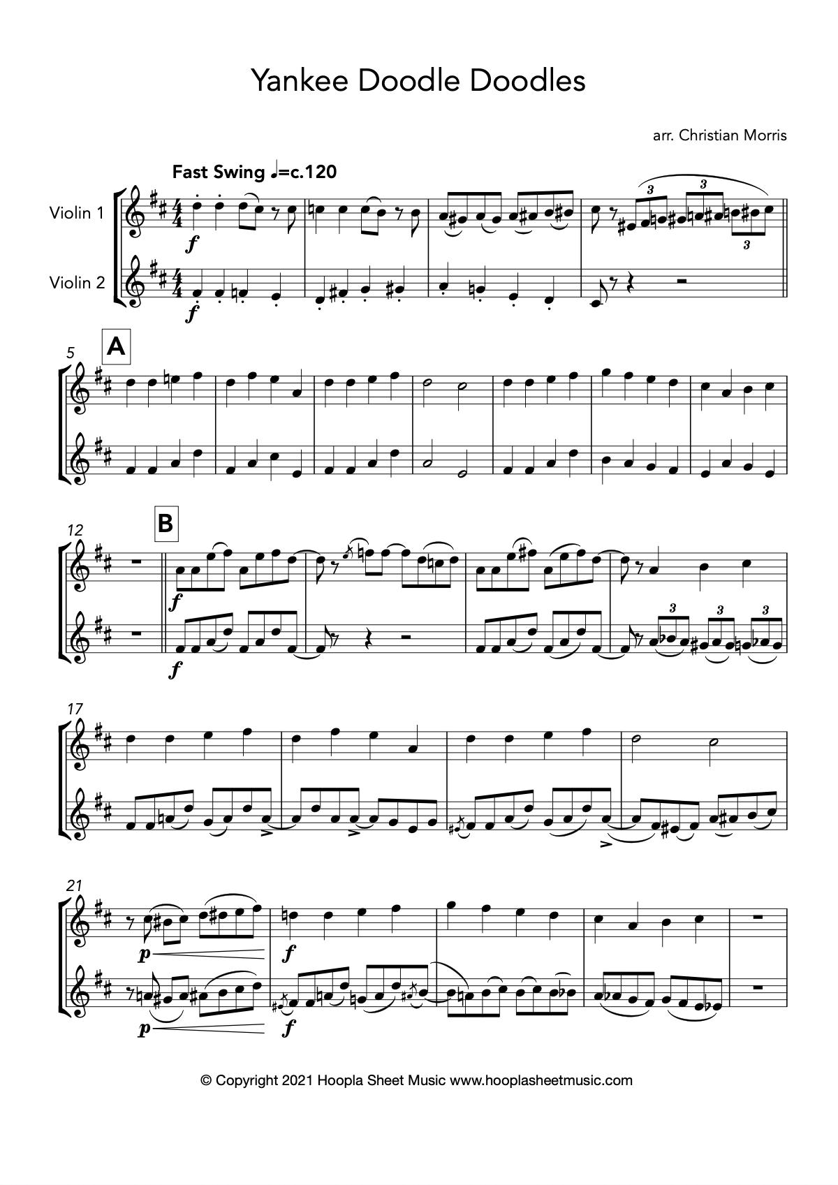 Yankee Doodle Doodles (Violin Duet)