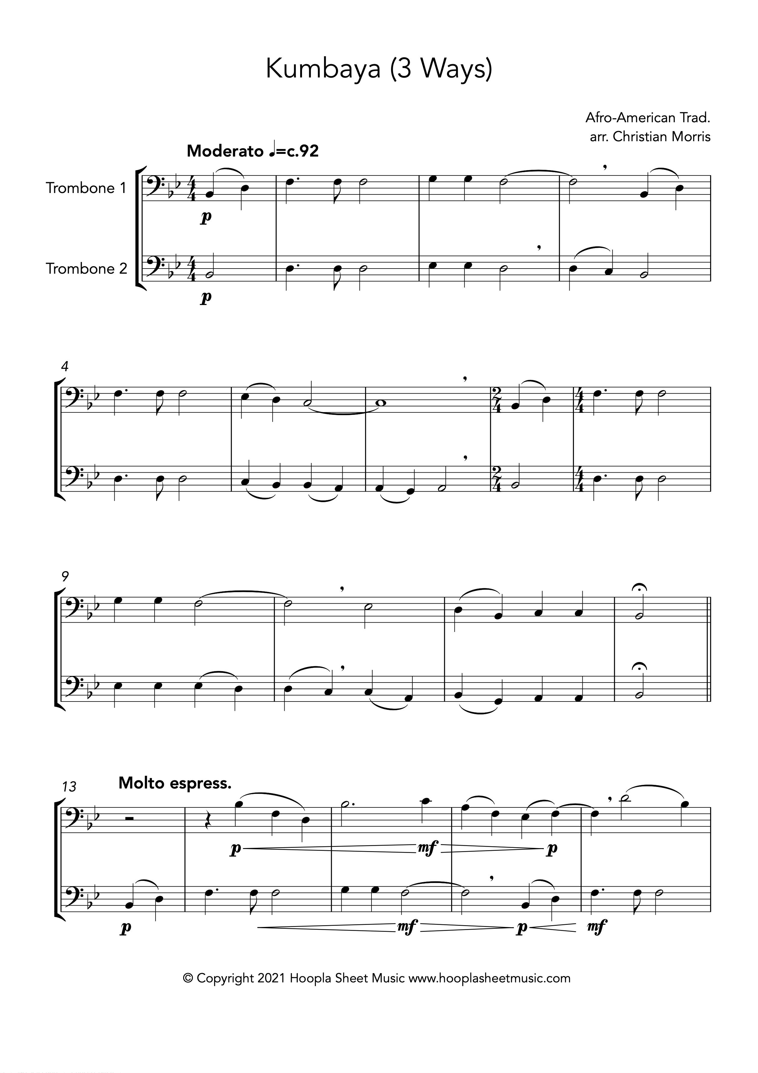Kumbaya (Trombone Duet)