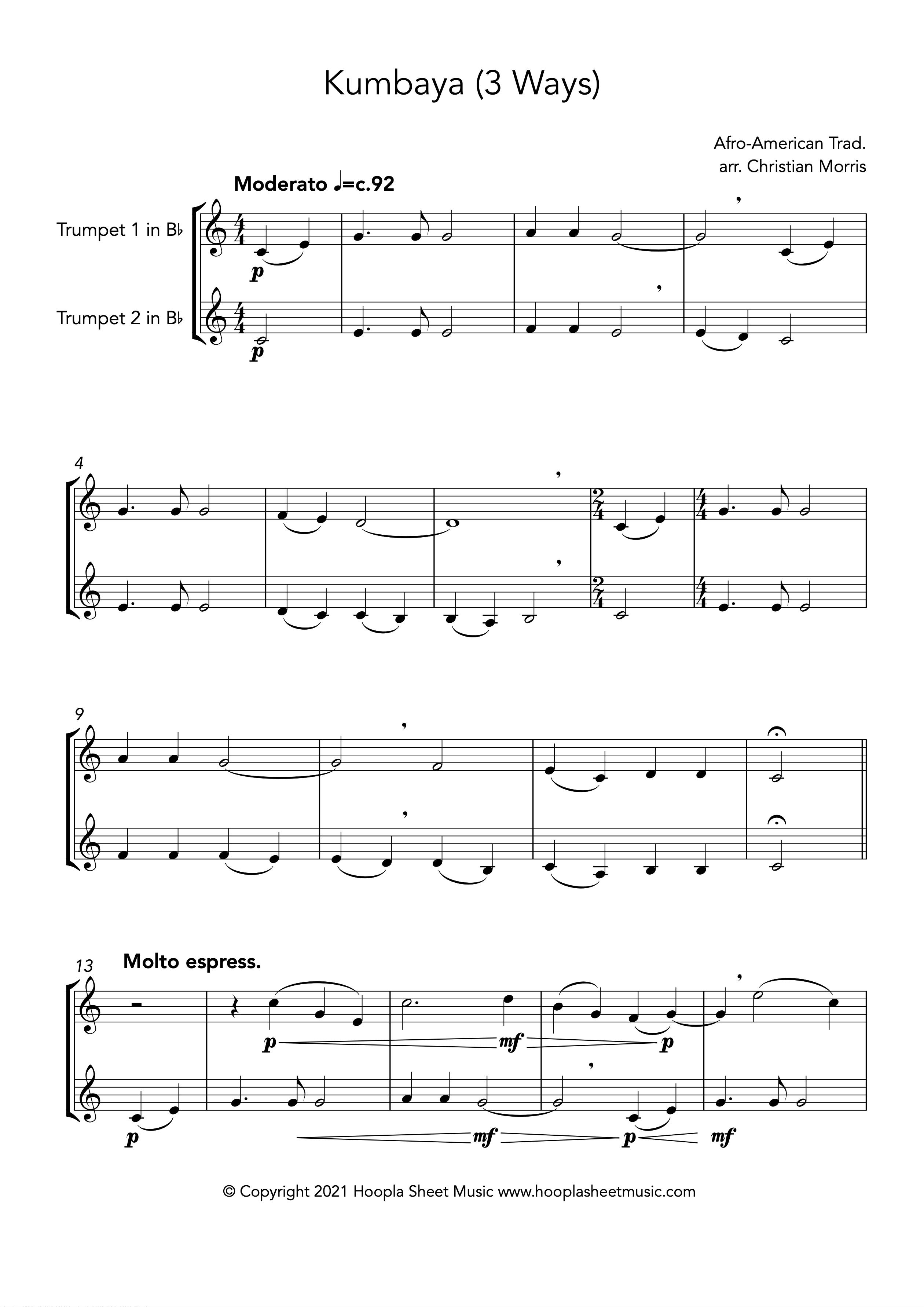 Kumbaya (Trumpet Duet)