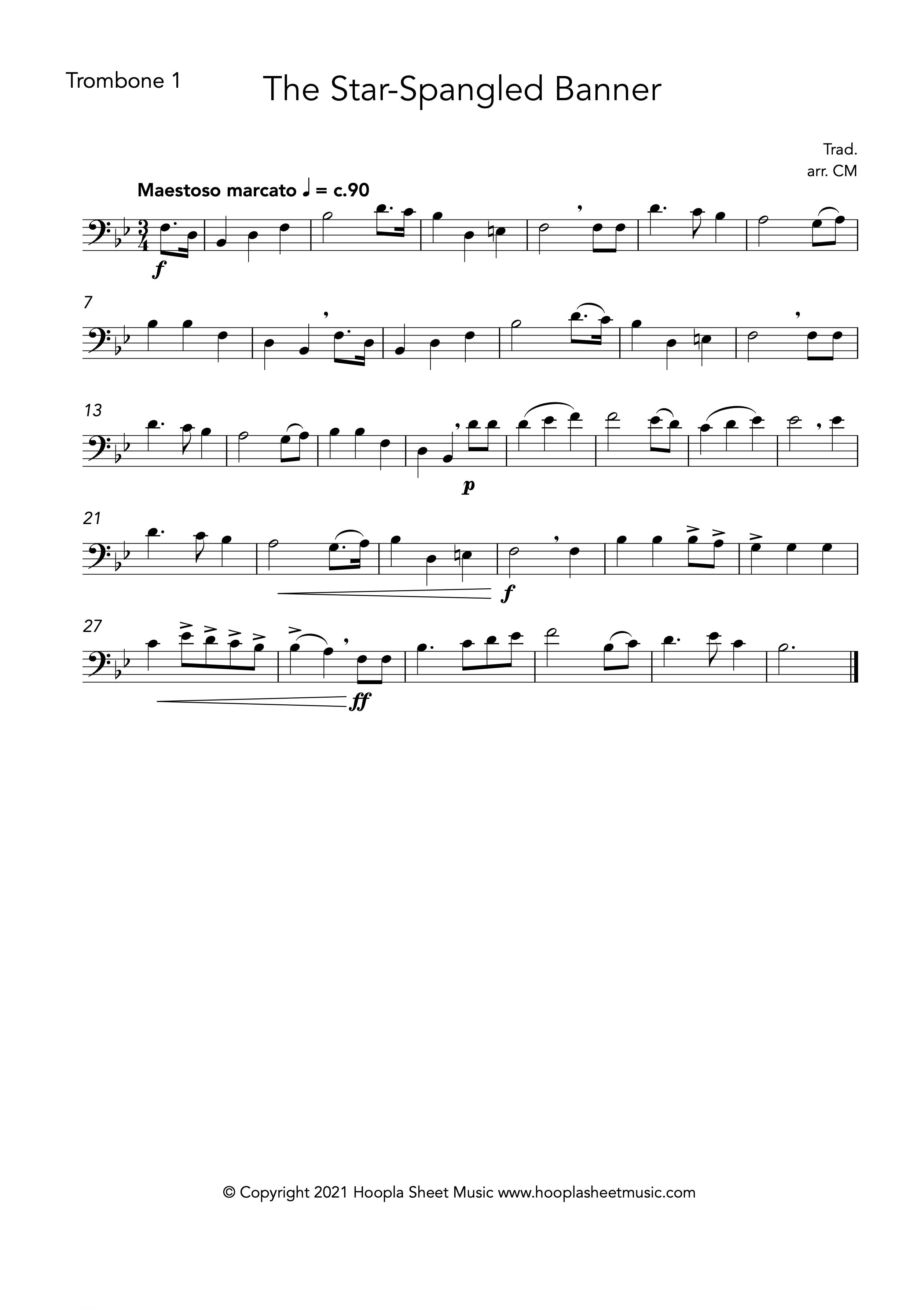 The Star Spangled Banner (Trombone Duet)