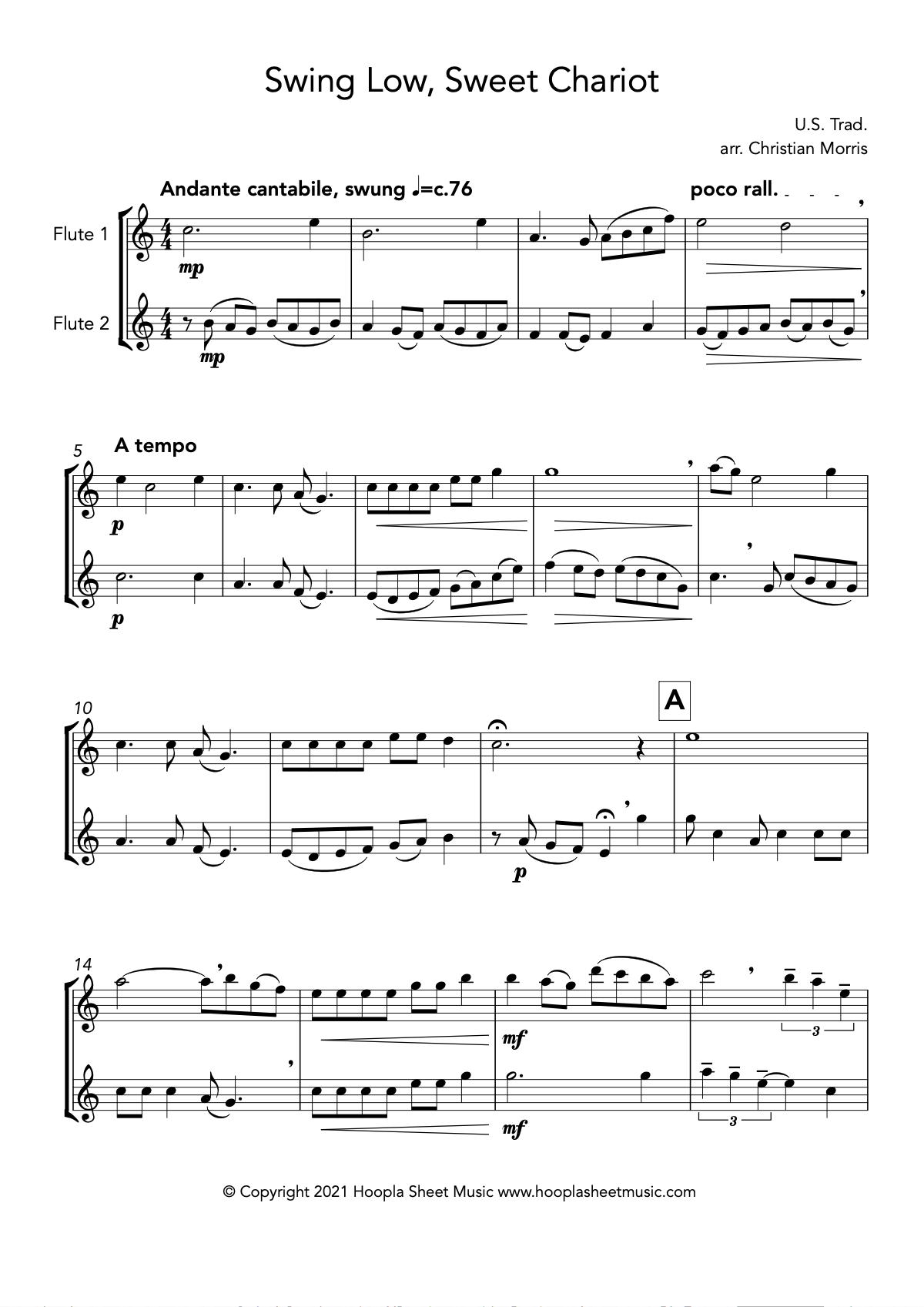 Swing Low, Sweet Chariot (Flute Duet)
