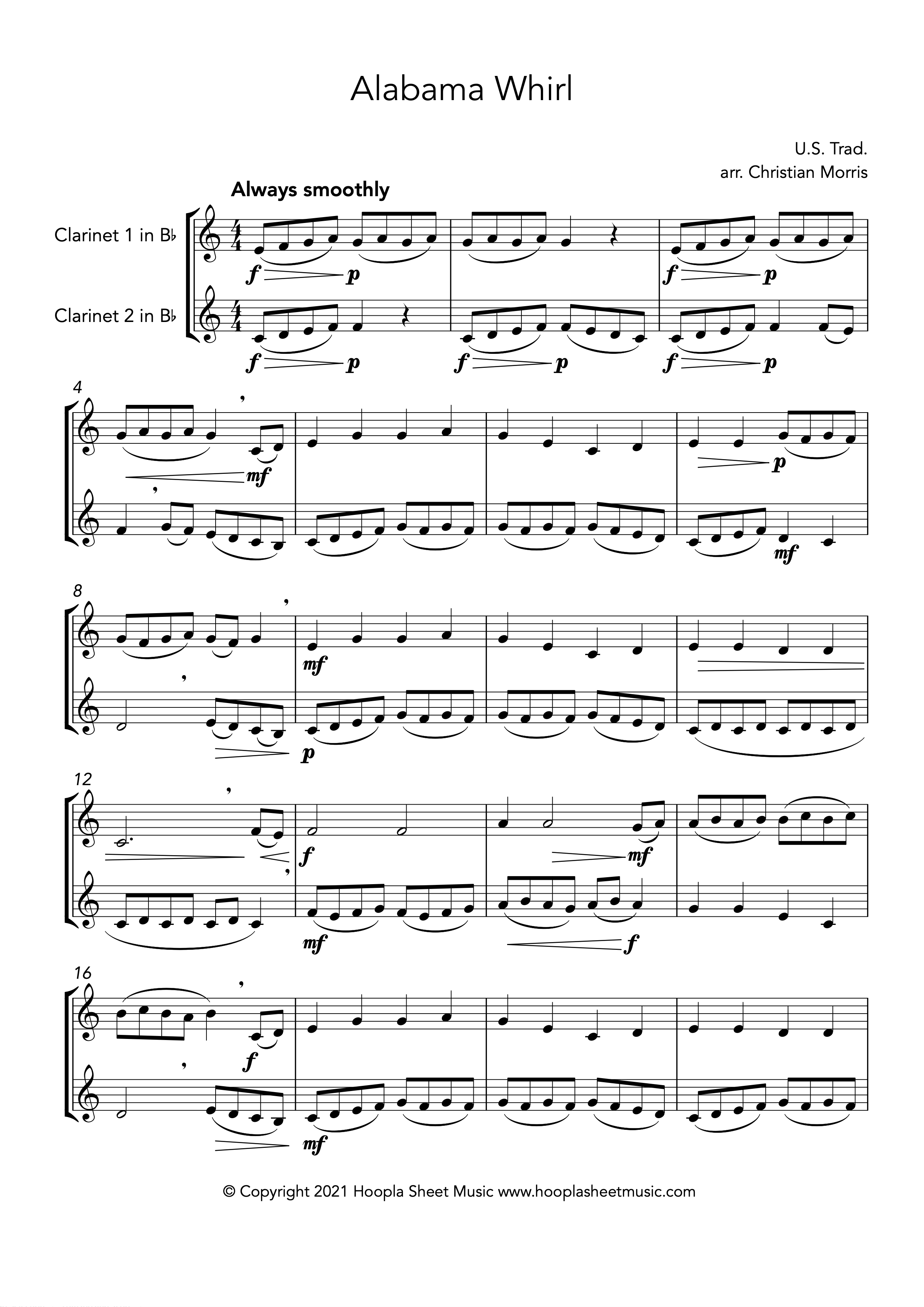 Alabama Whirl (Oh Susanna!) (Clarinet Duet)