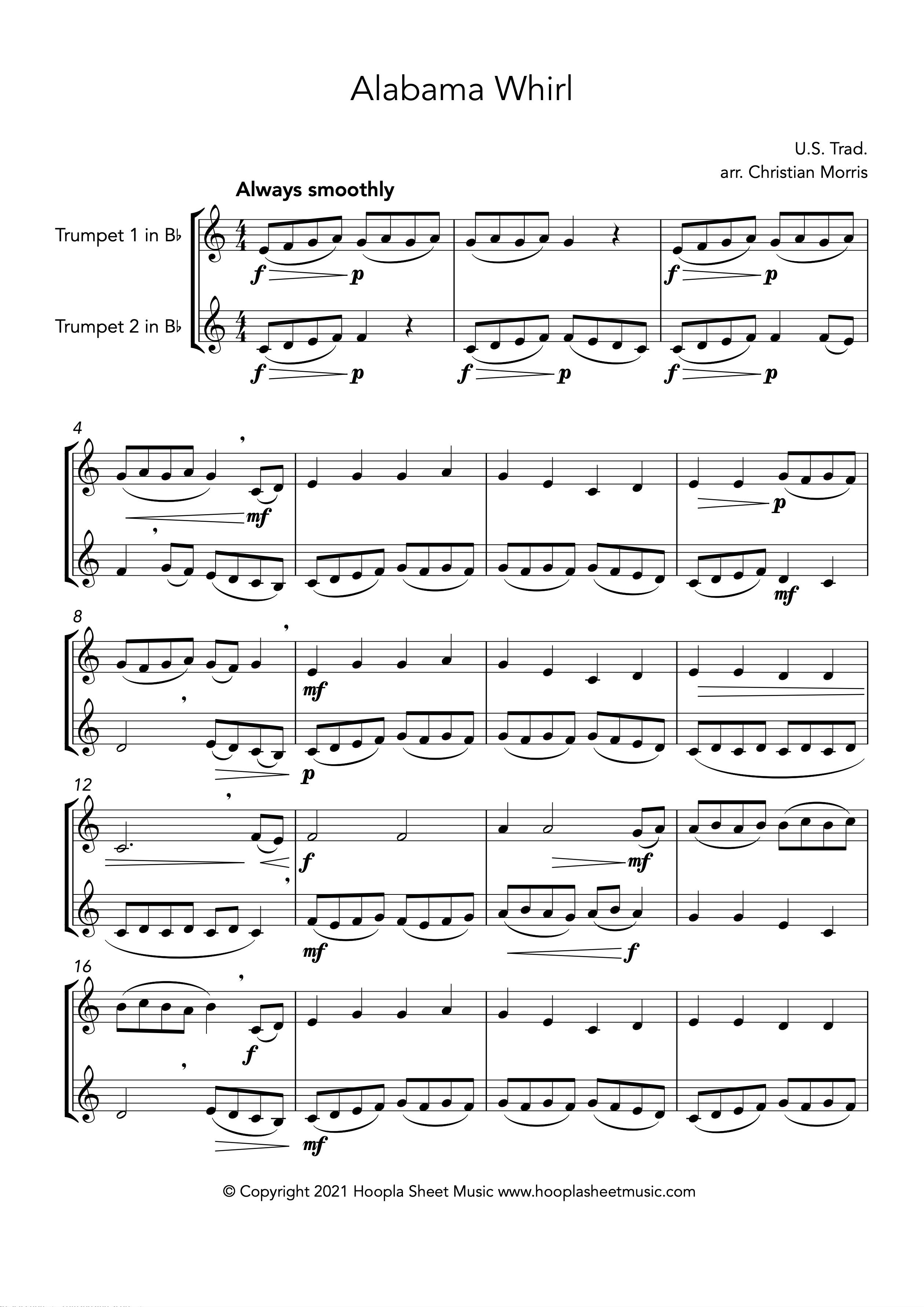 Alabama Whirl (Oh Susanna!) (Trumpet Duet)