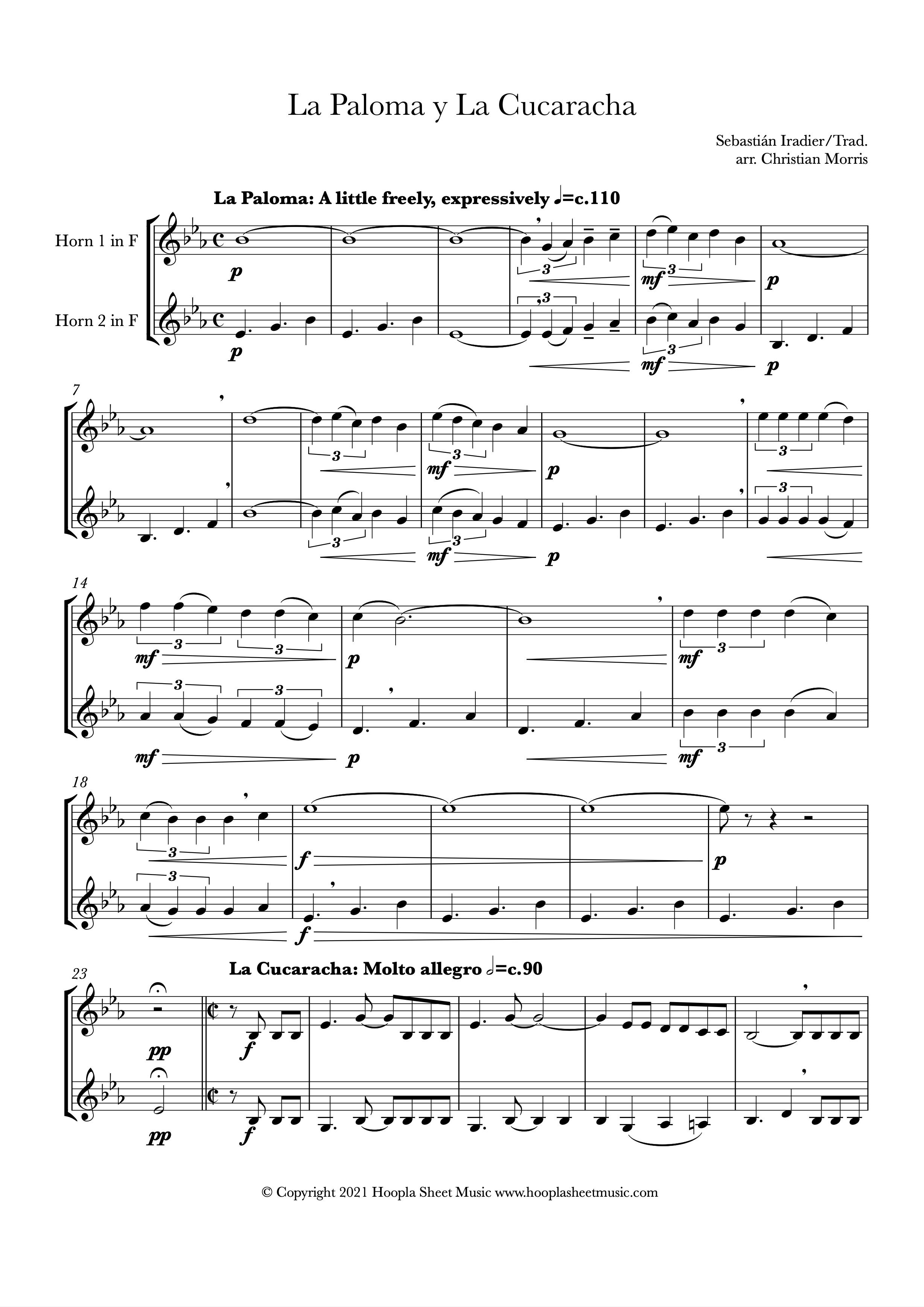 La Paloma y La Cucaracha (French Horn Duet)