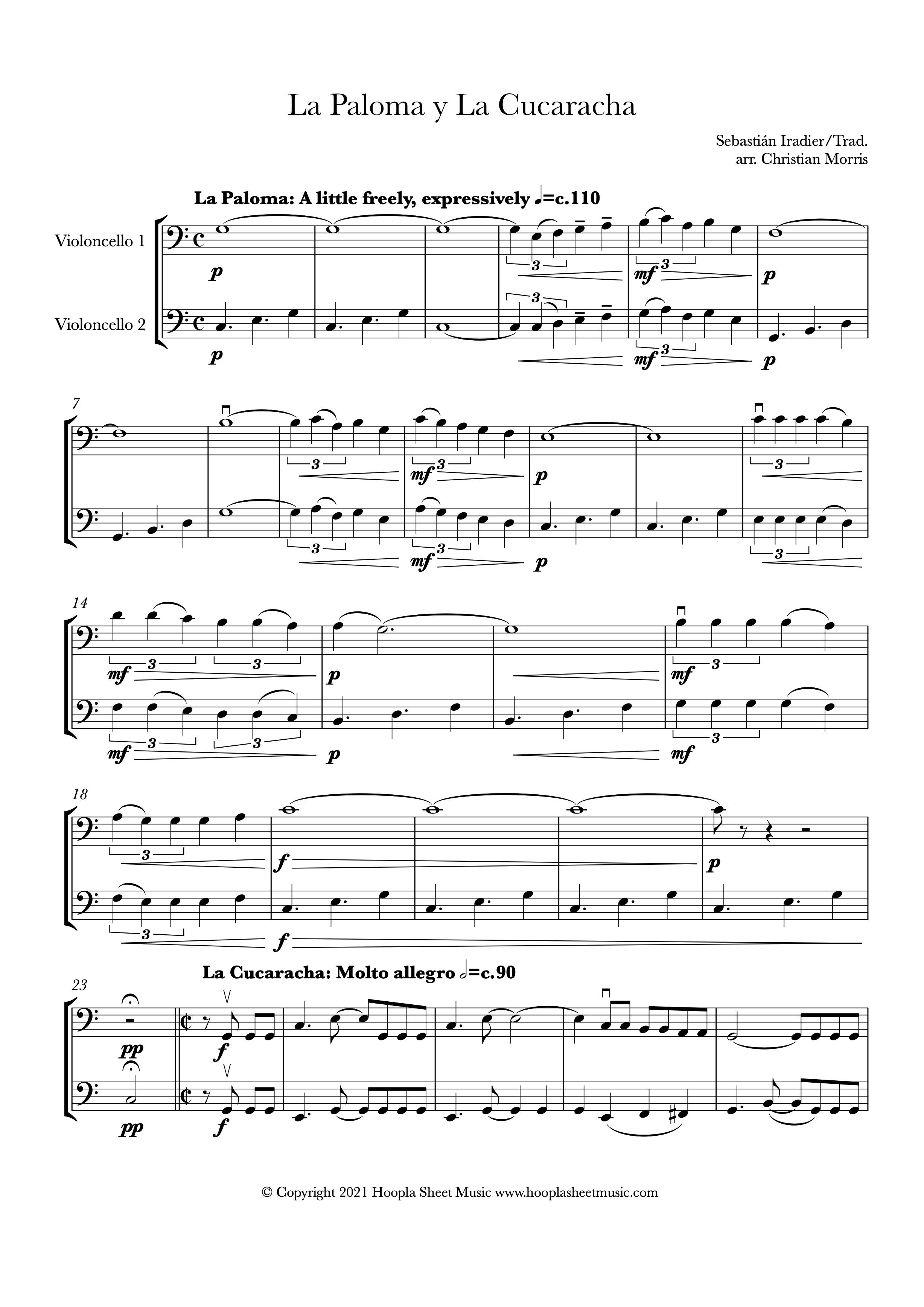 La Paloma y La Cucaracha (Cello Duet)