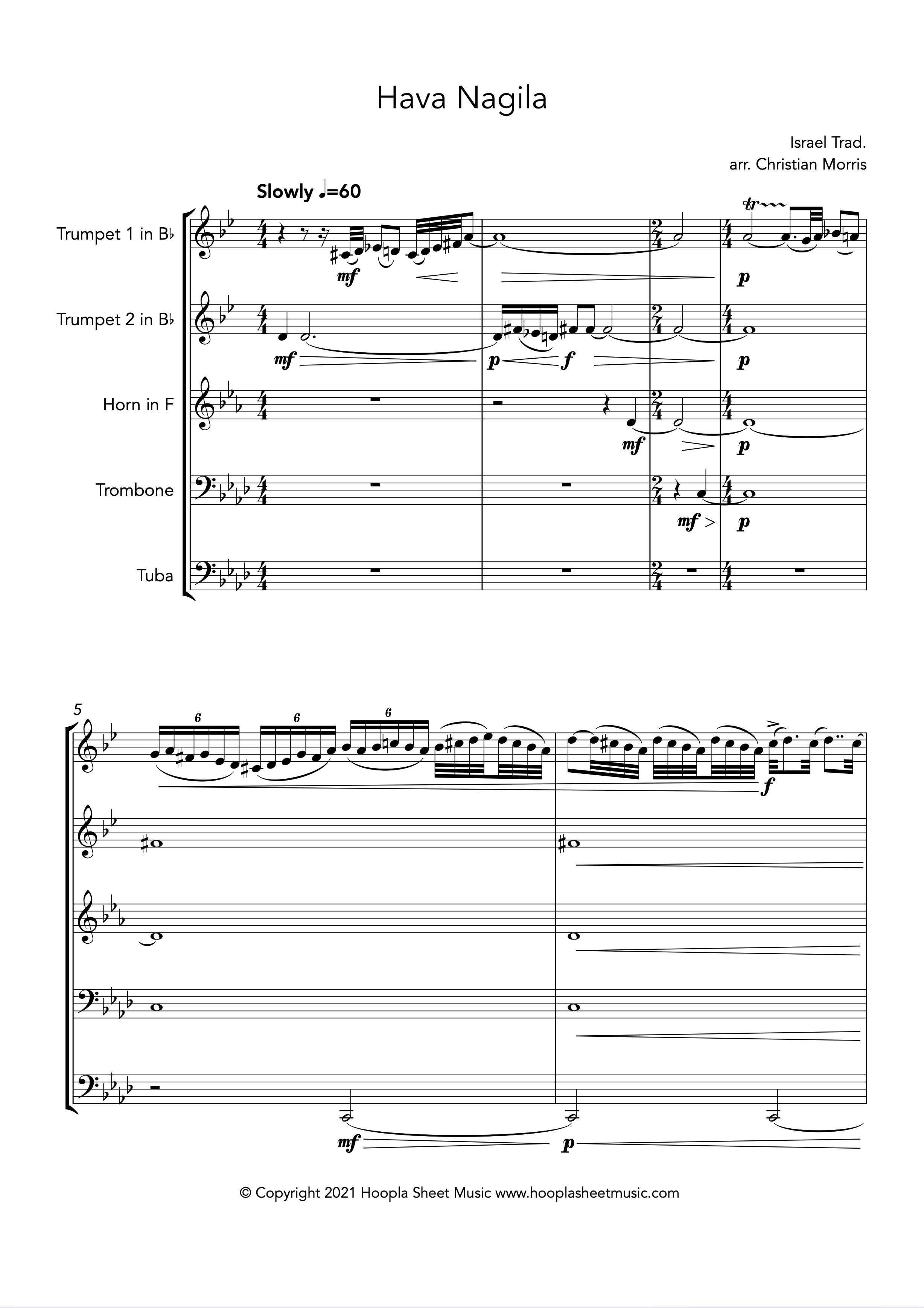 Hava Nagila (Brass Quintet)