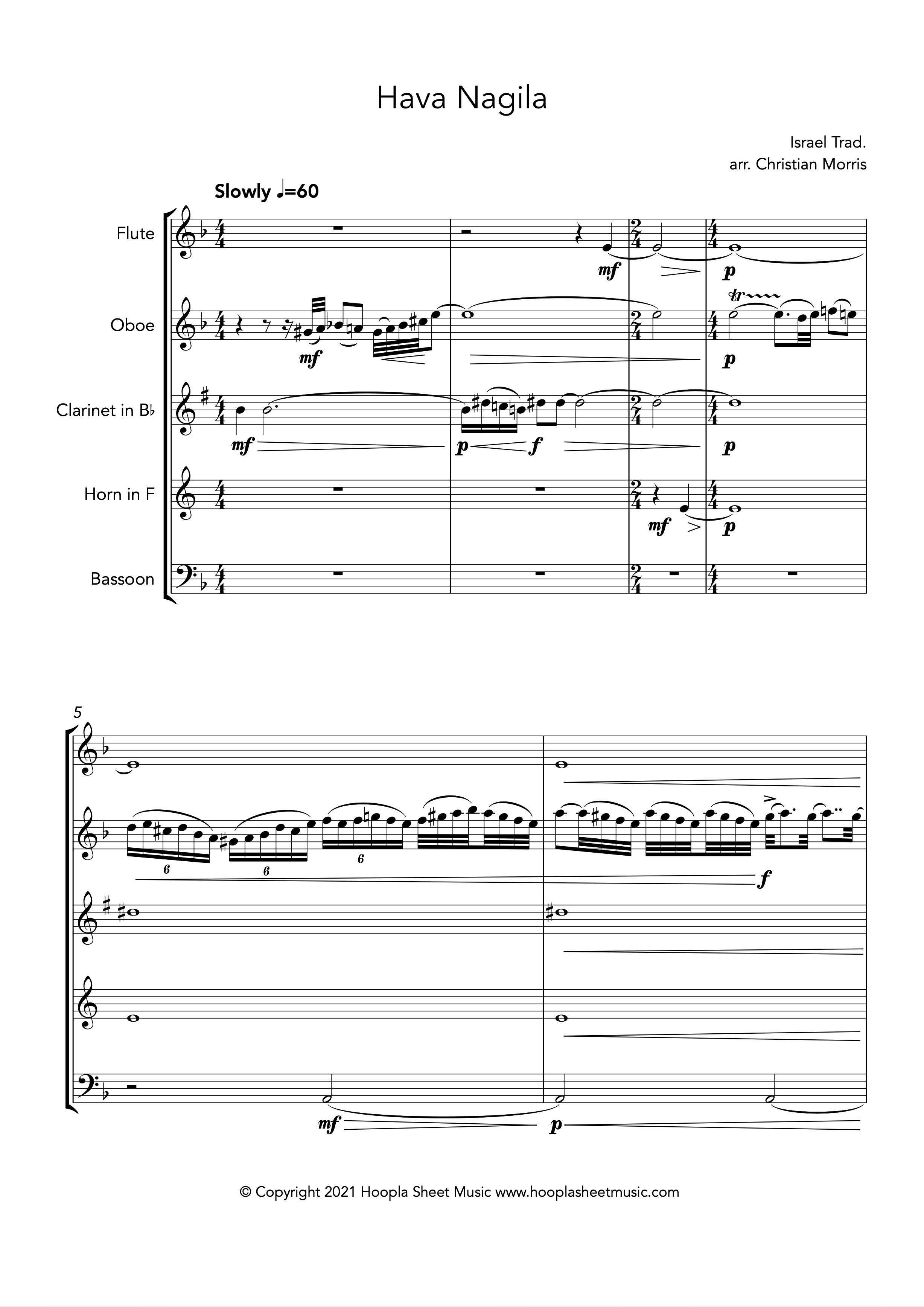 Hava Nagila (Wind Quintet)