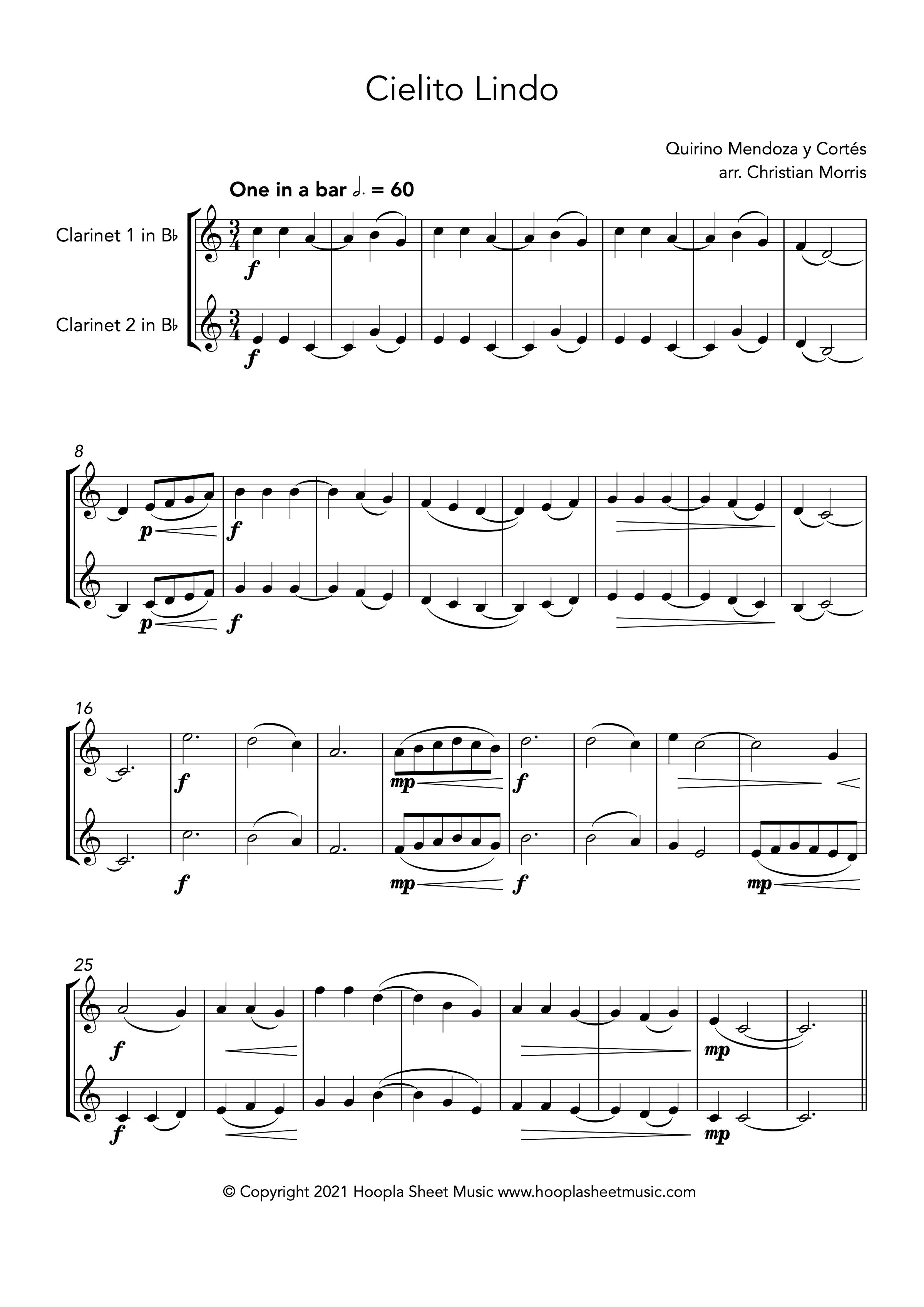 Cielito Lindo (Clarinet Duet)