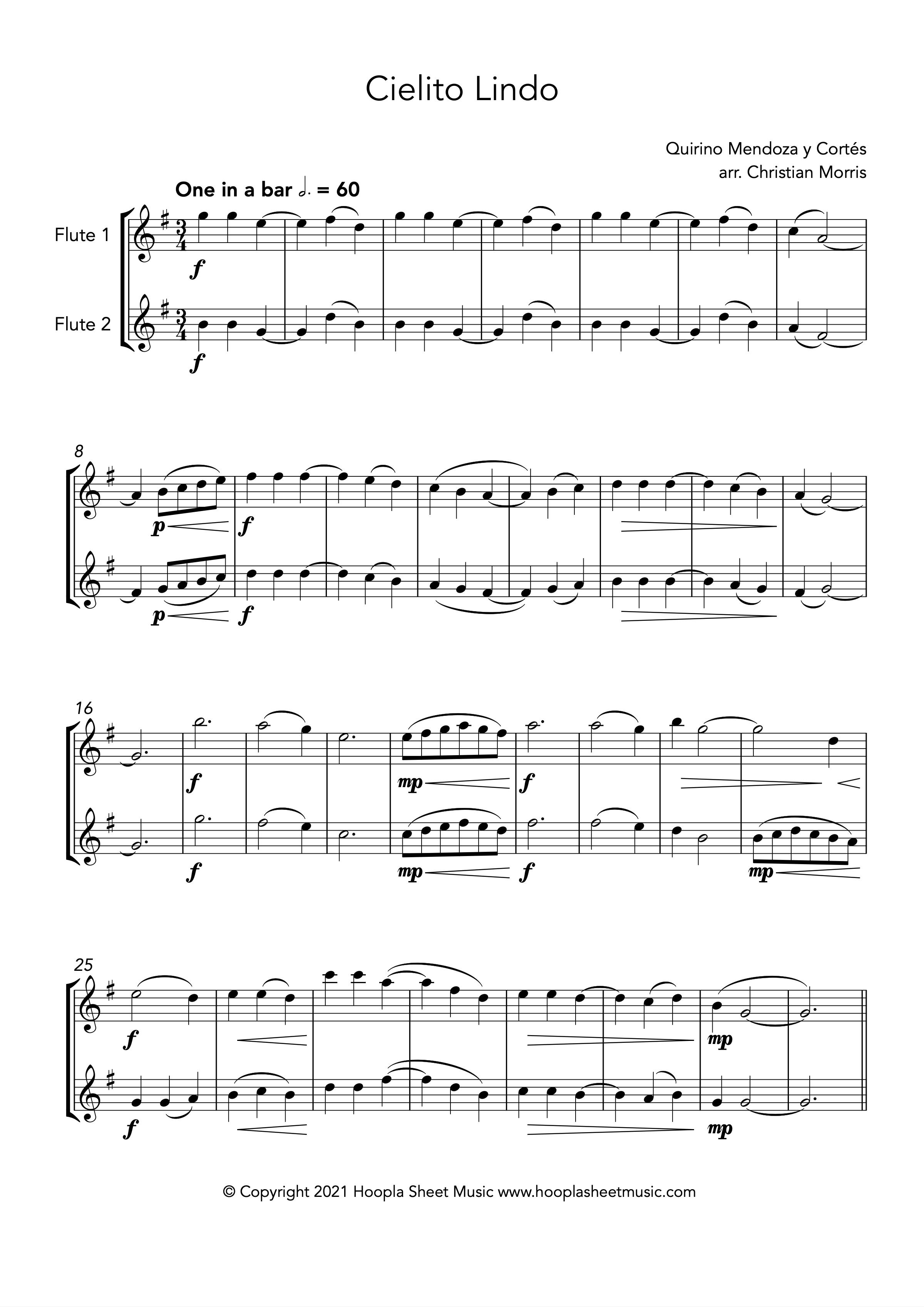 Cielito Lindo (Flute Duet)