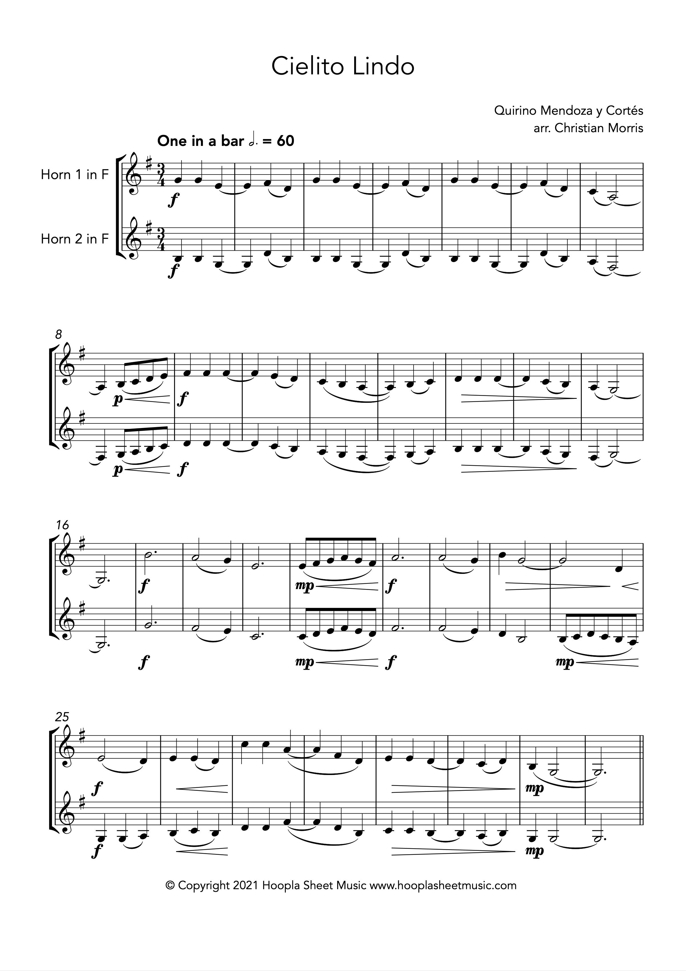 Cielito Lindo (French Horn Duet)