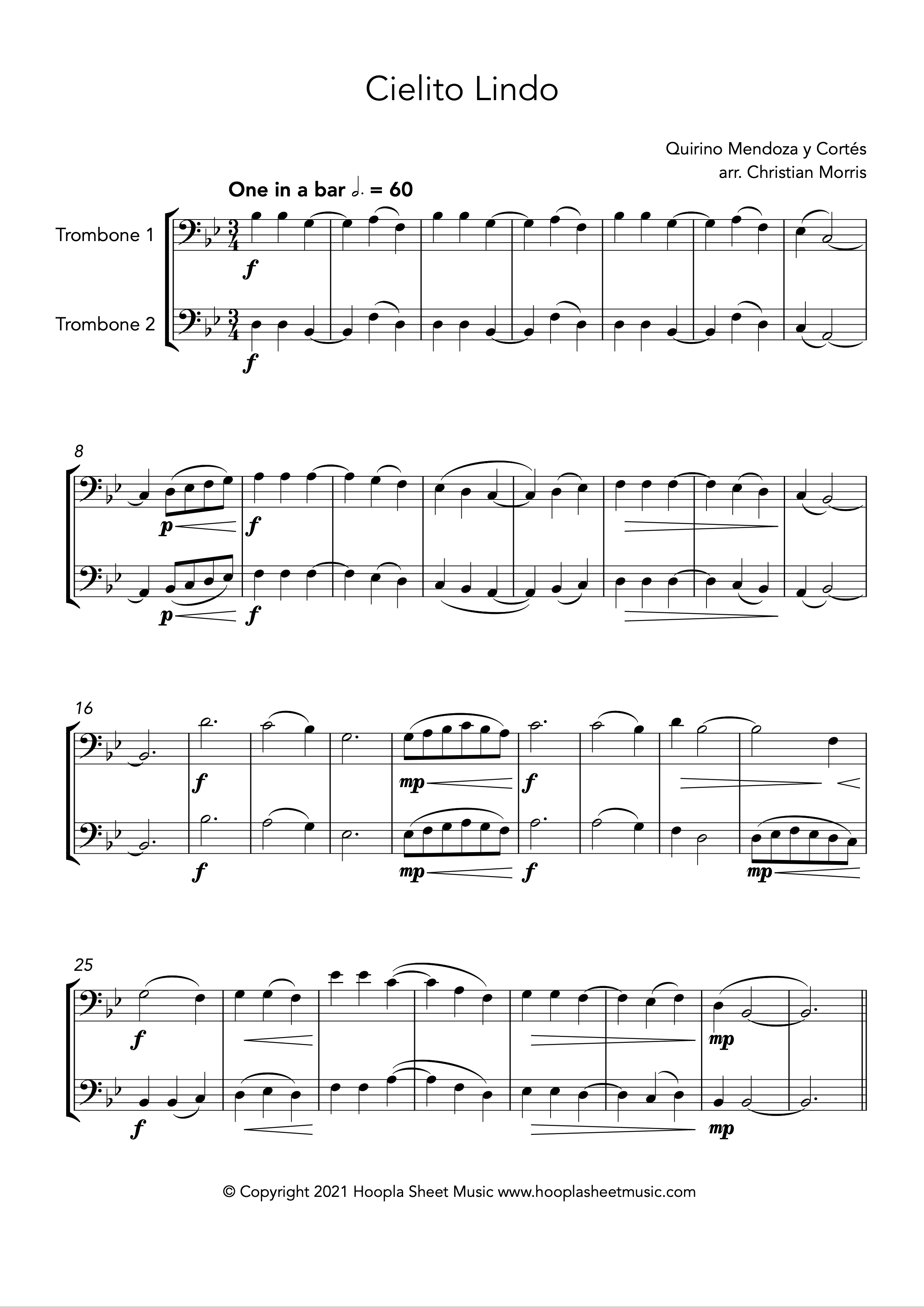 Cielito Lindo (Trombone Duet)