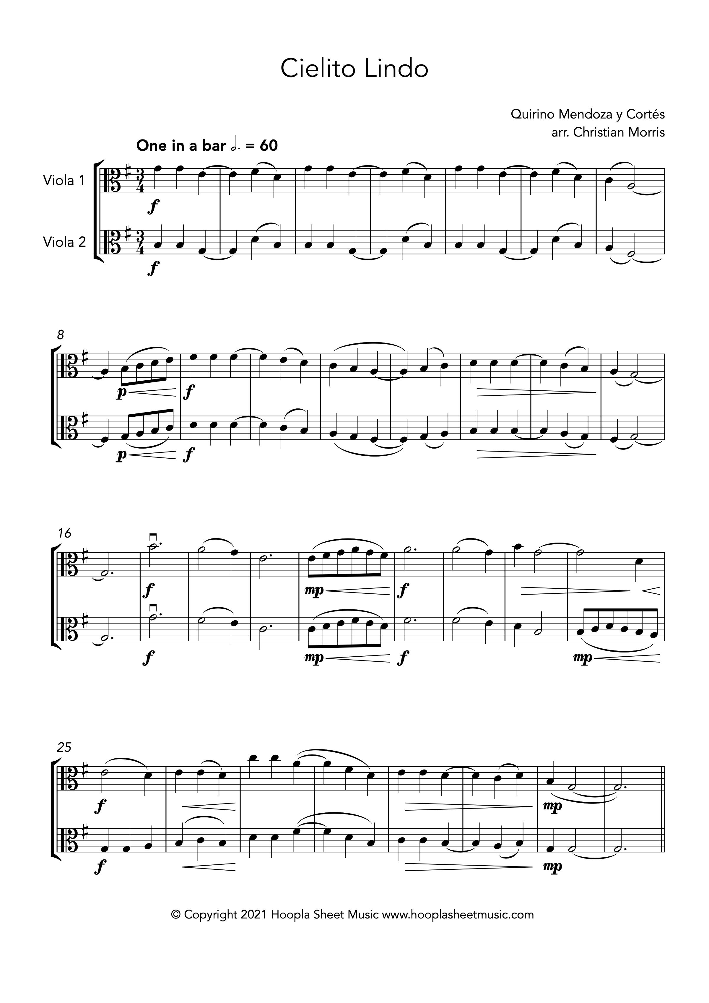 Cielito Lindo (Viola Duet)