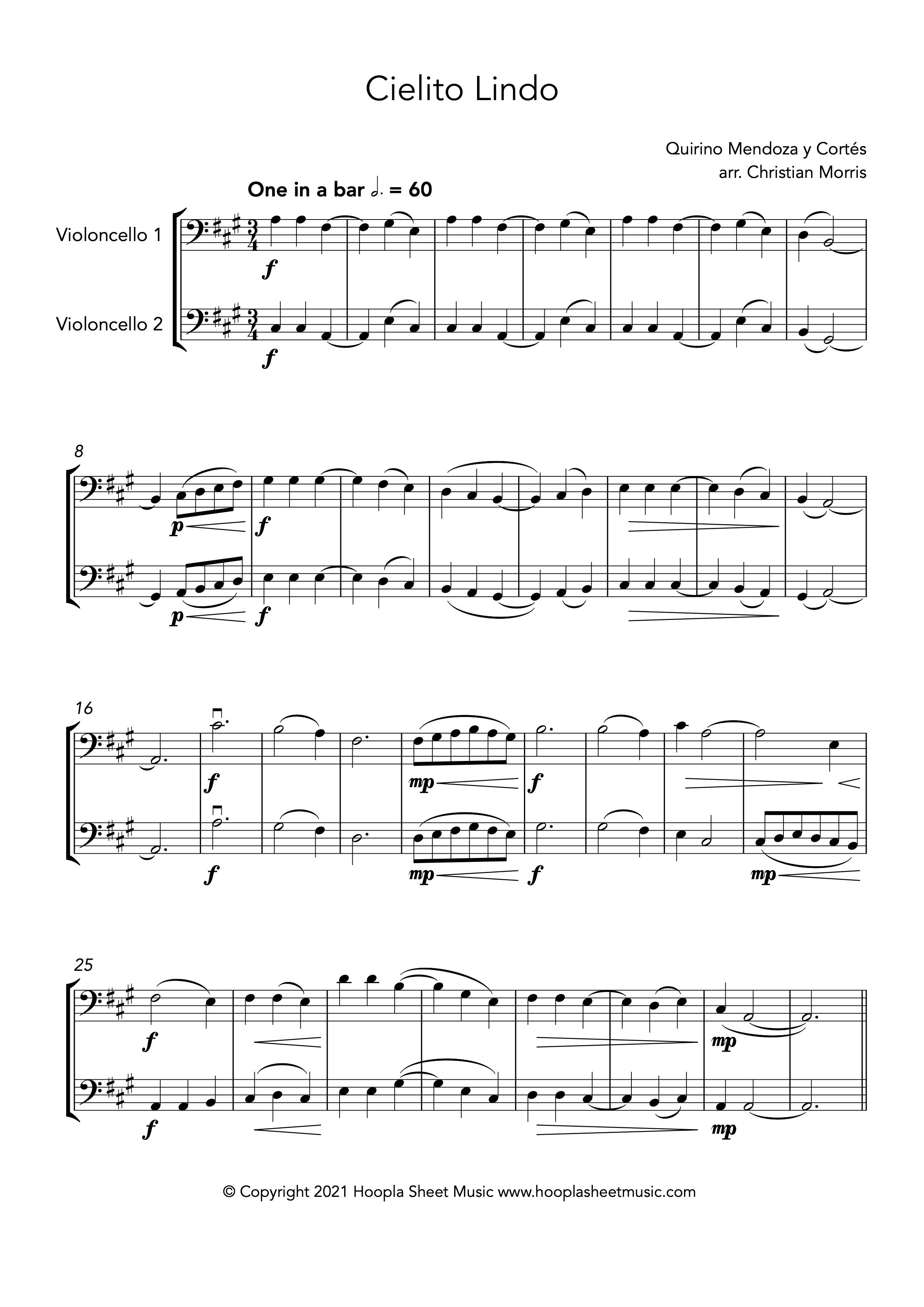 Cielito Lindo (Cello Duet)