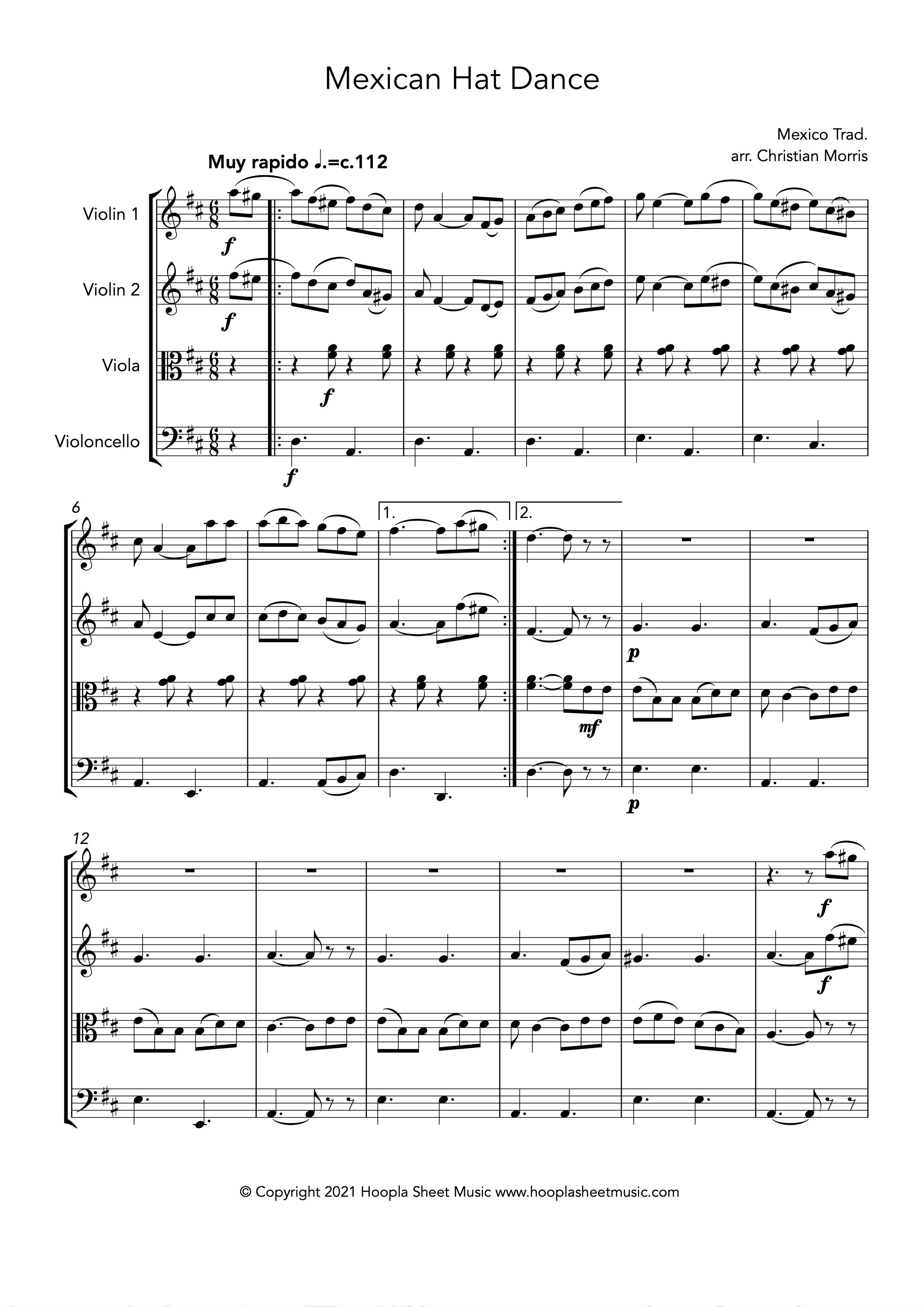 Mexican Hat Dance (String Quartet)
