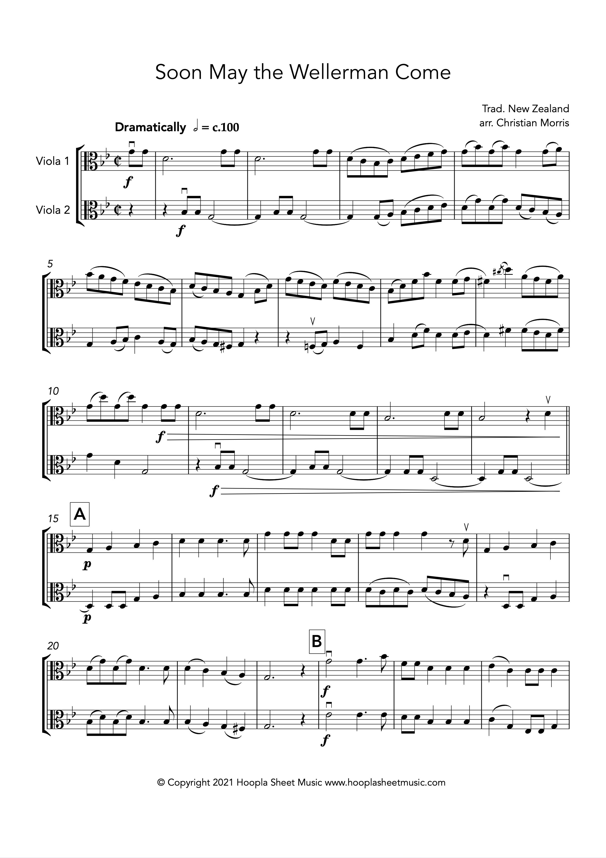 Soon May the Wellerman Come (Viola Duet)
