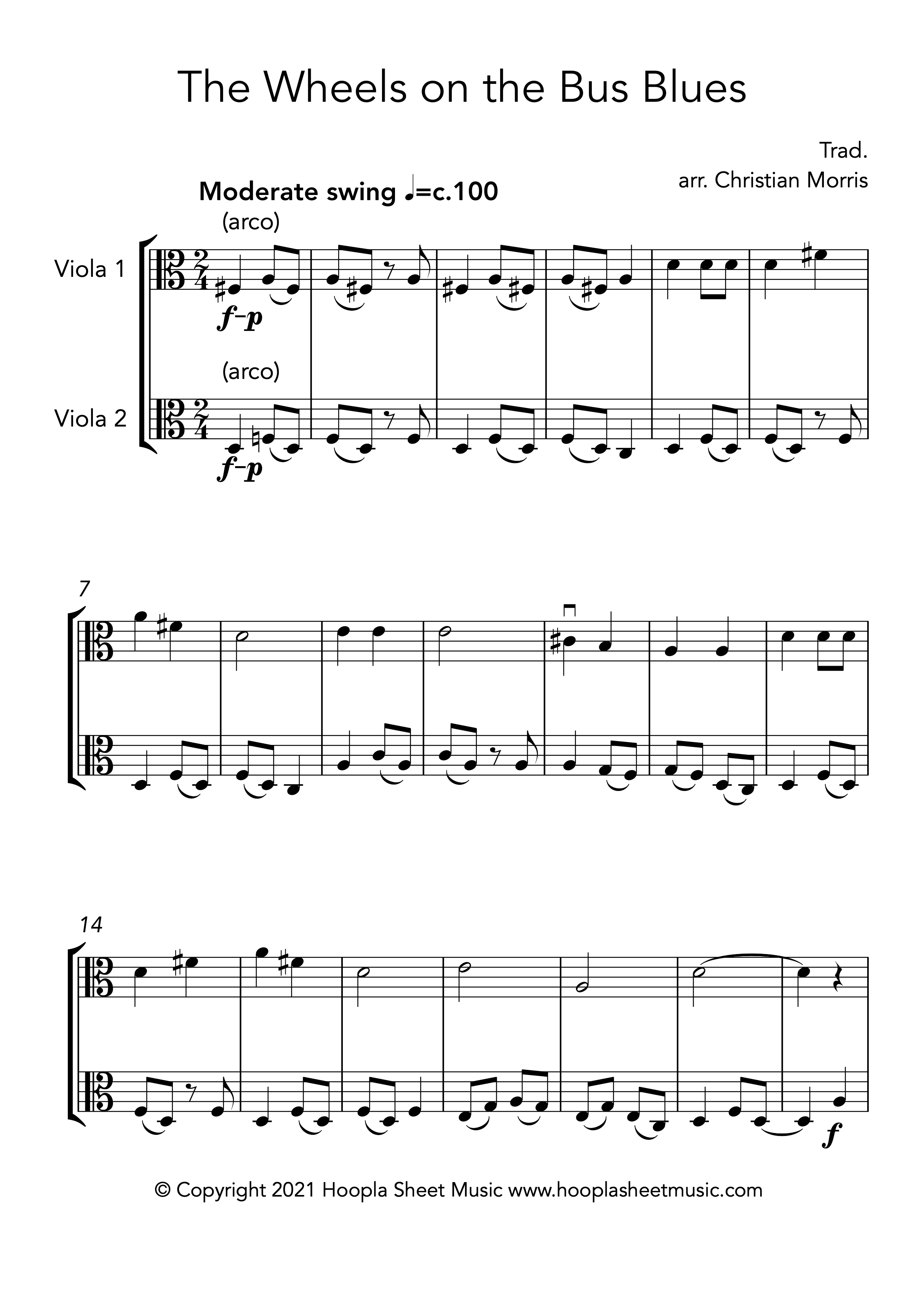 The Wheels on the Bus Blues (Viola Duet)