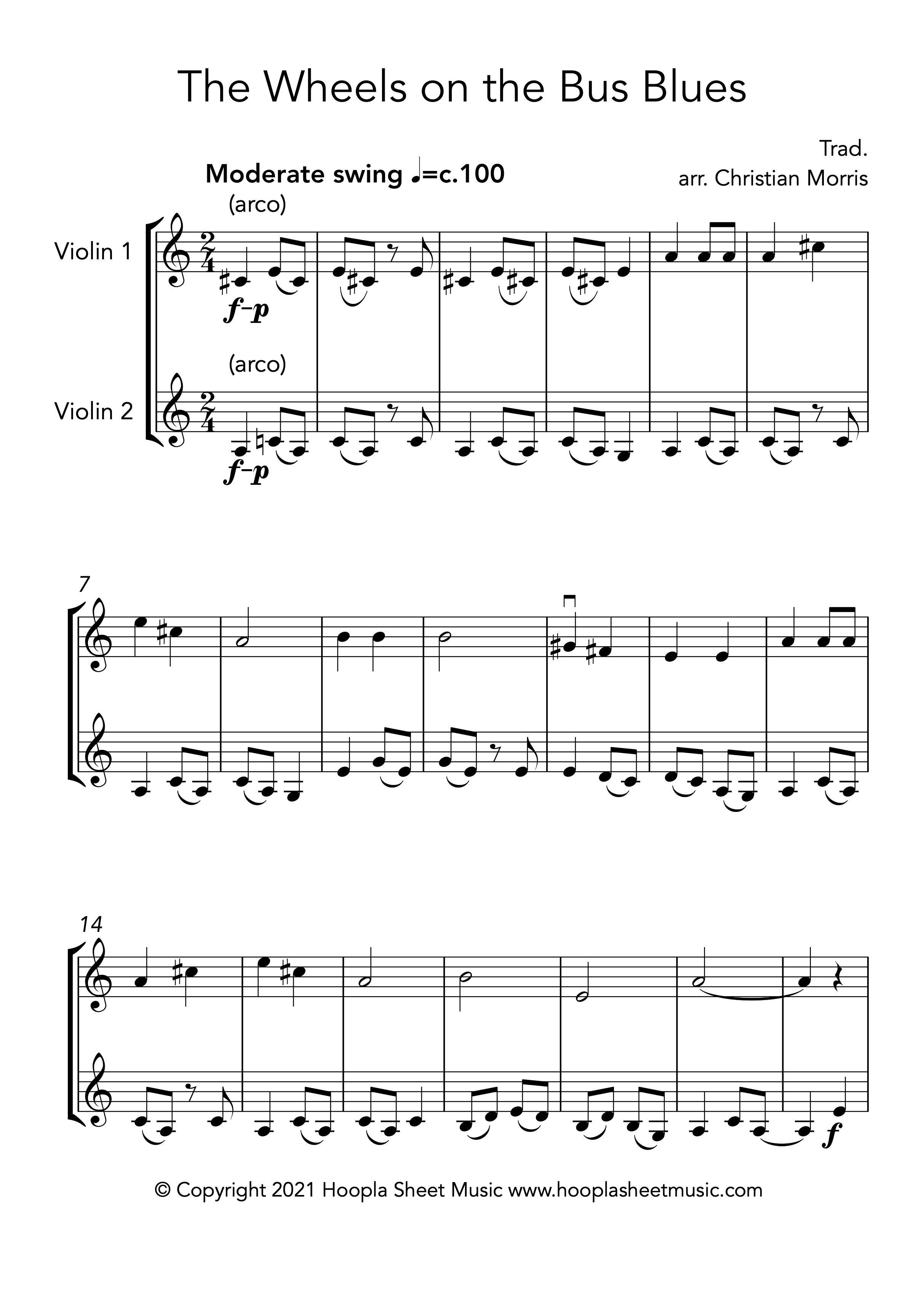 The Wheels on the Bus Blues (Violin Duet)