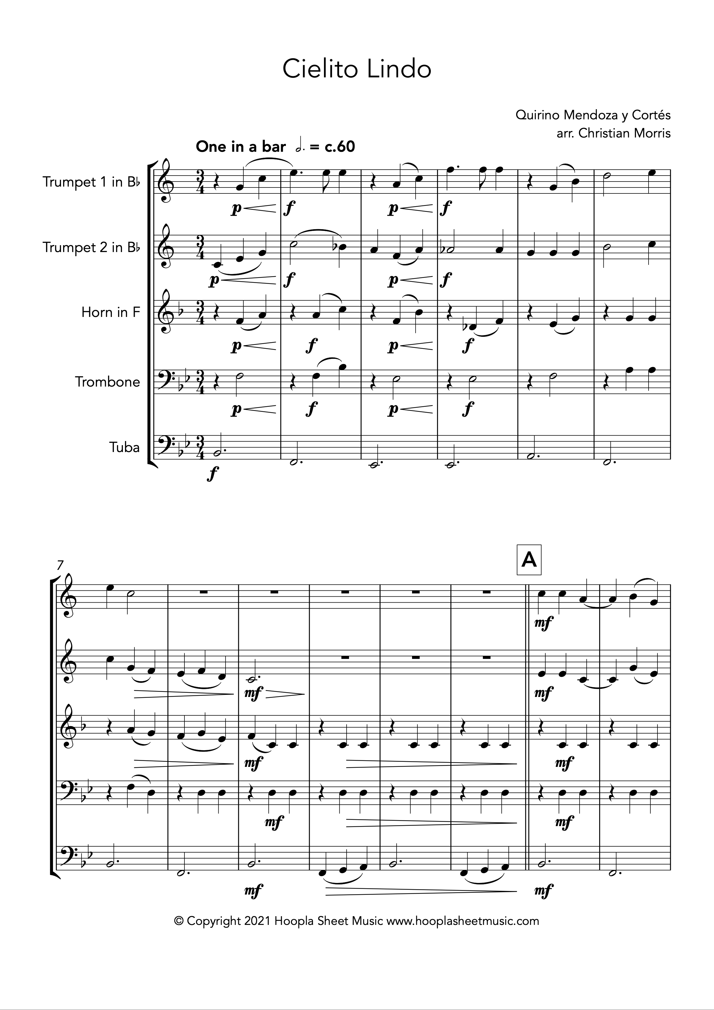 Cielito Lindo (Brass Quintet)