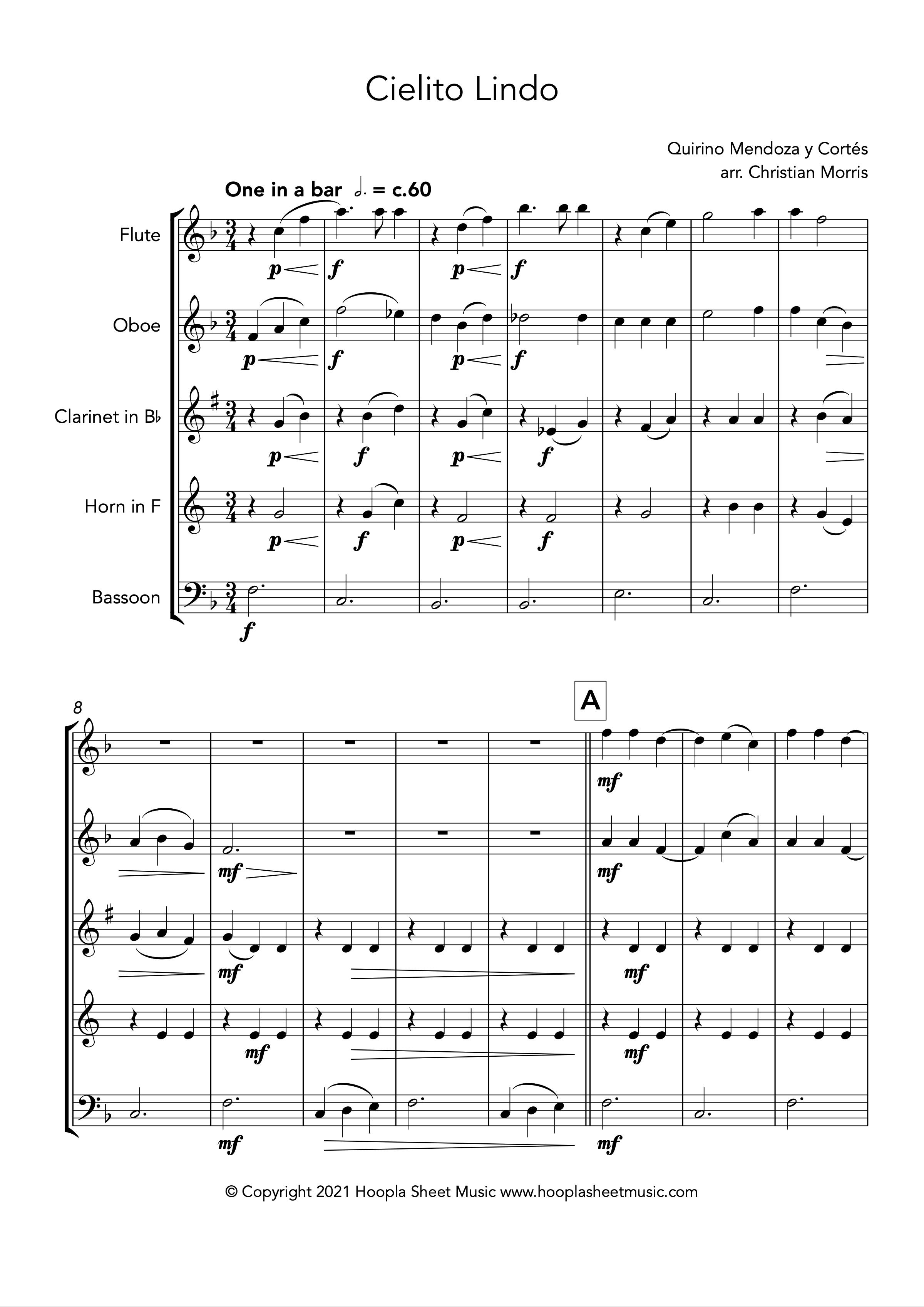 Cielito Lindo (Wind Quintet)