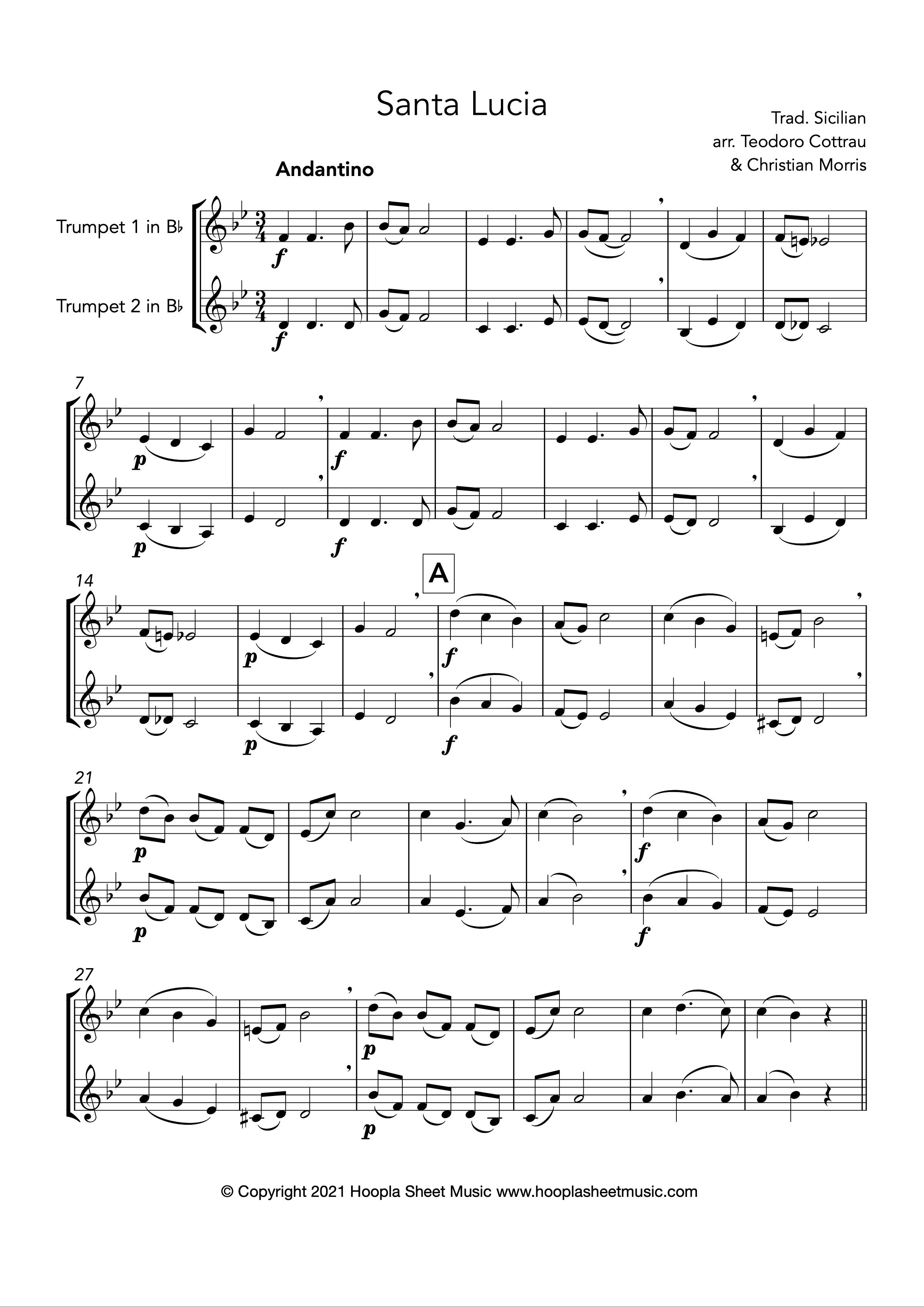 Santa Lucia (Trumpet Duet)
